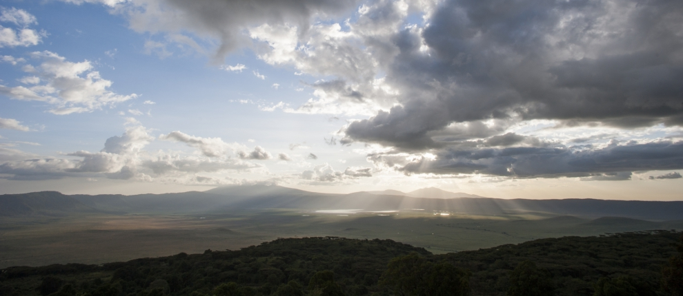 Vue panoramique Entamanu Ngorongoro Lodge