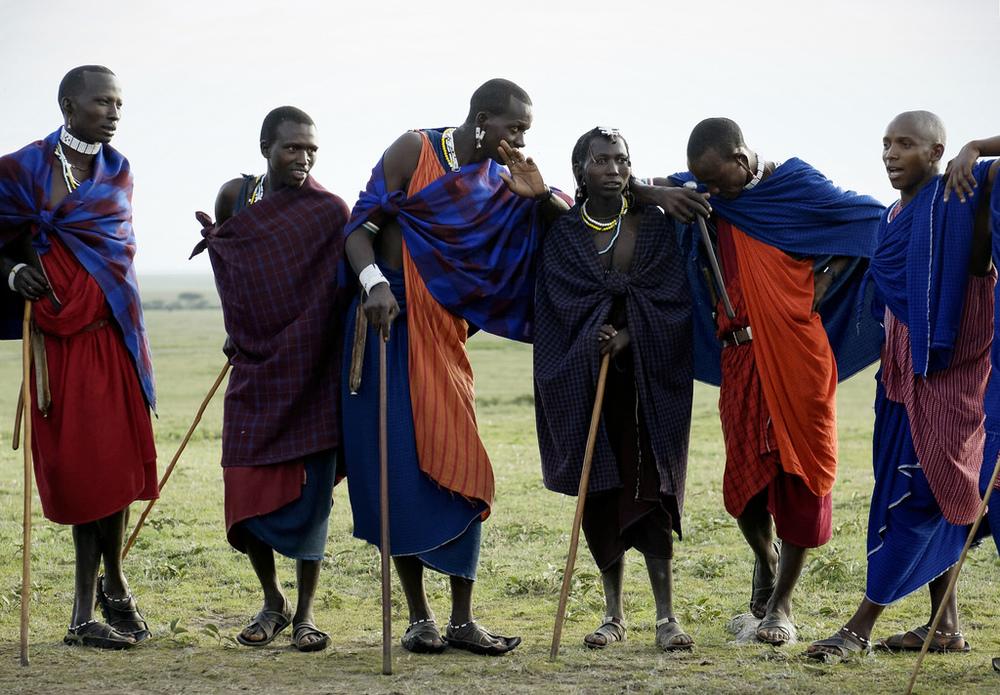 Groupe de Masais Entamanu Ngorongoro Lodge