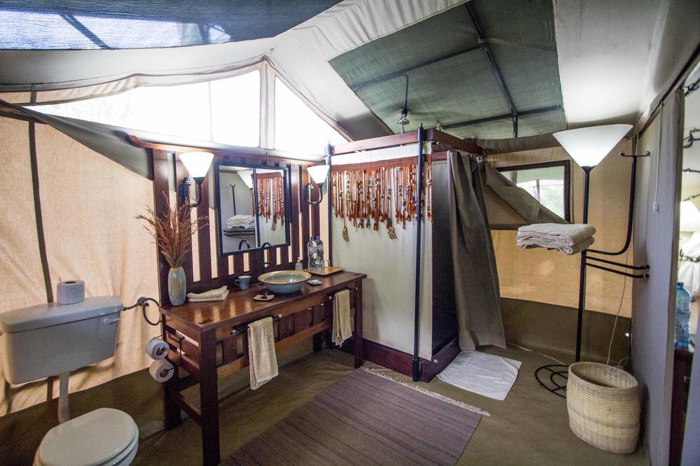 Salle de bain Kwihala Camp