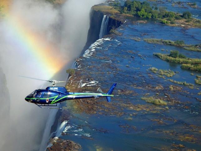 Tour hélicoptère chutes Victoria