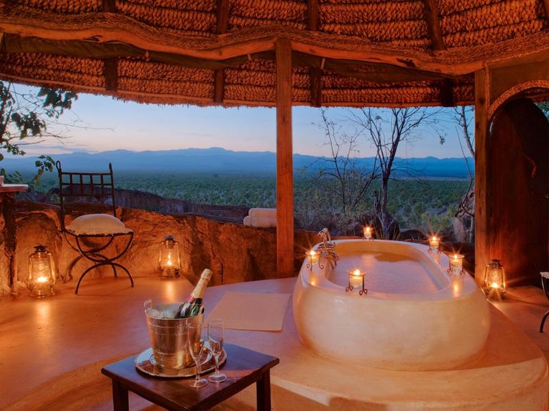Salle de Bain Romantique — Safaris en Afrique