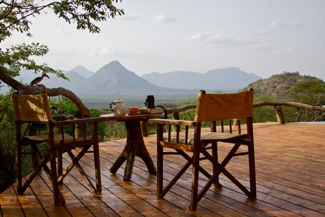 Terrasse vue montage Sarara Camp