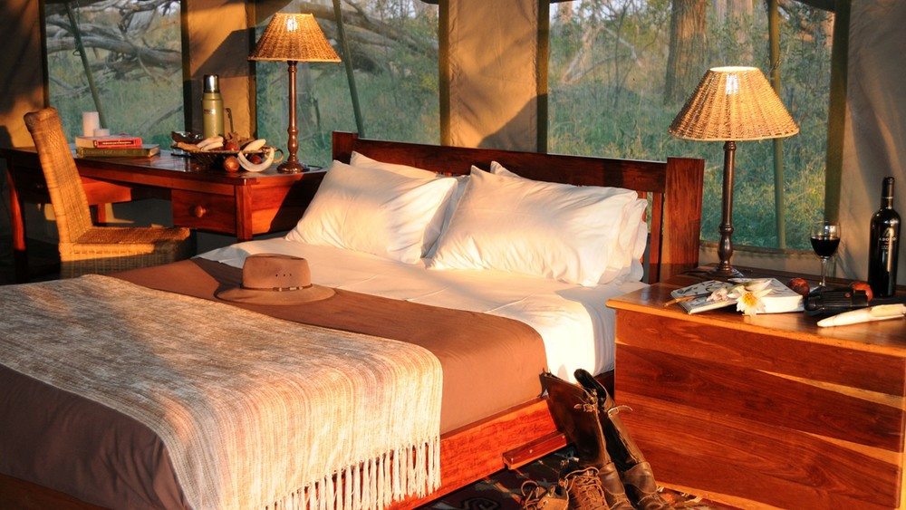Safari à cheval au Botswana - chambre du Macatoo camp