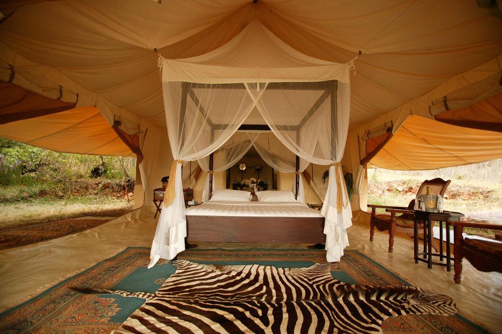 Voyage de noces Romance Kenyane - chambre à Cottar's 1920s Safari Camp