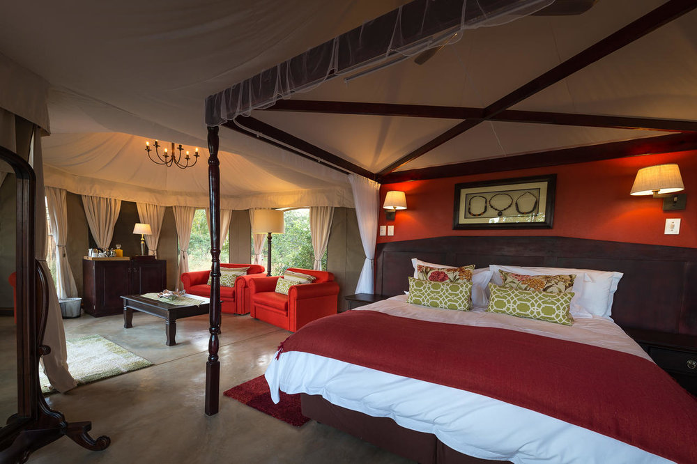 The Elephant camp bedroom