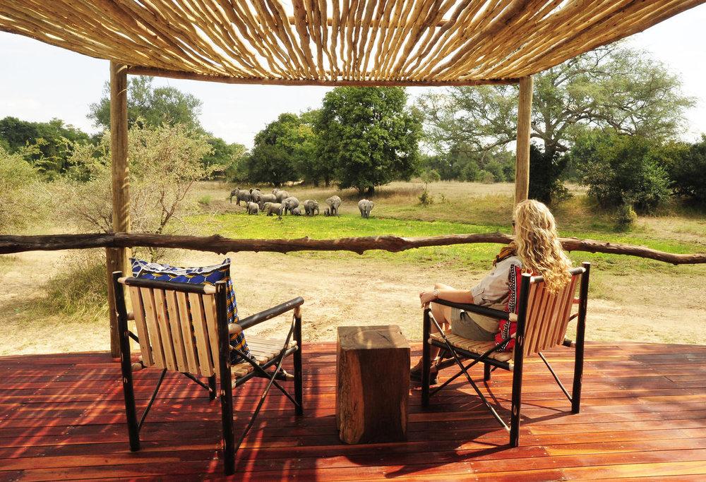Terrasse de chambre de Bilimungwe Bushcamp