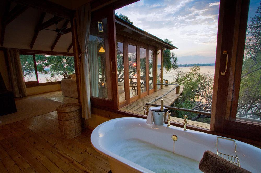 Safari Sublime Botswana - salle de bain Tongabezi