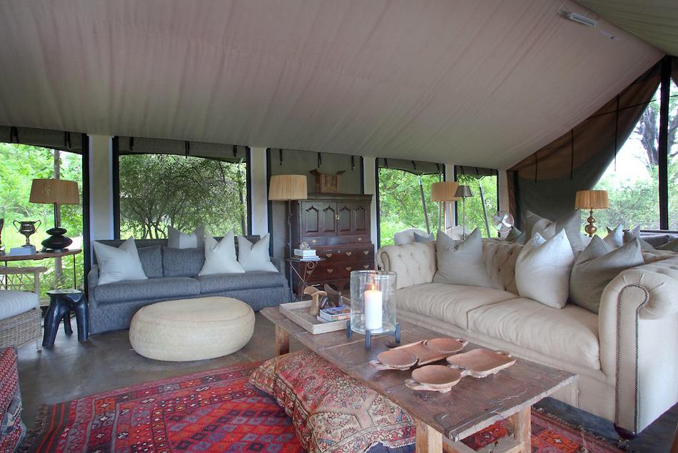 Safari Sublime Botswana - tente principale de Machaba