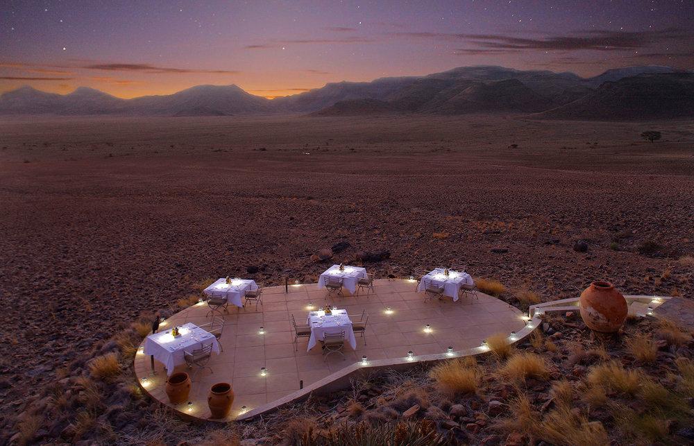 Safari Déserts et Plaines Africaines - diner dans le désert