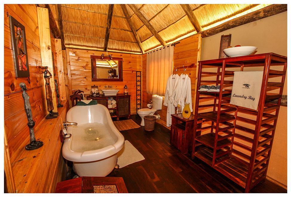 Salle de bain du Nehimba lodge