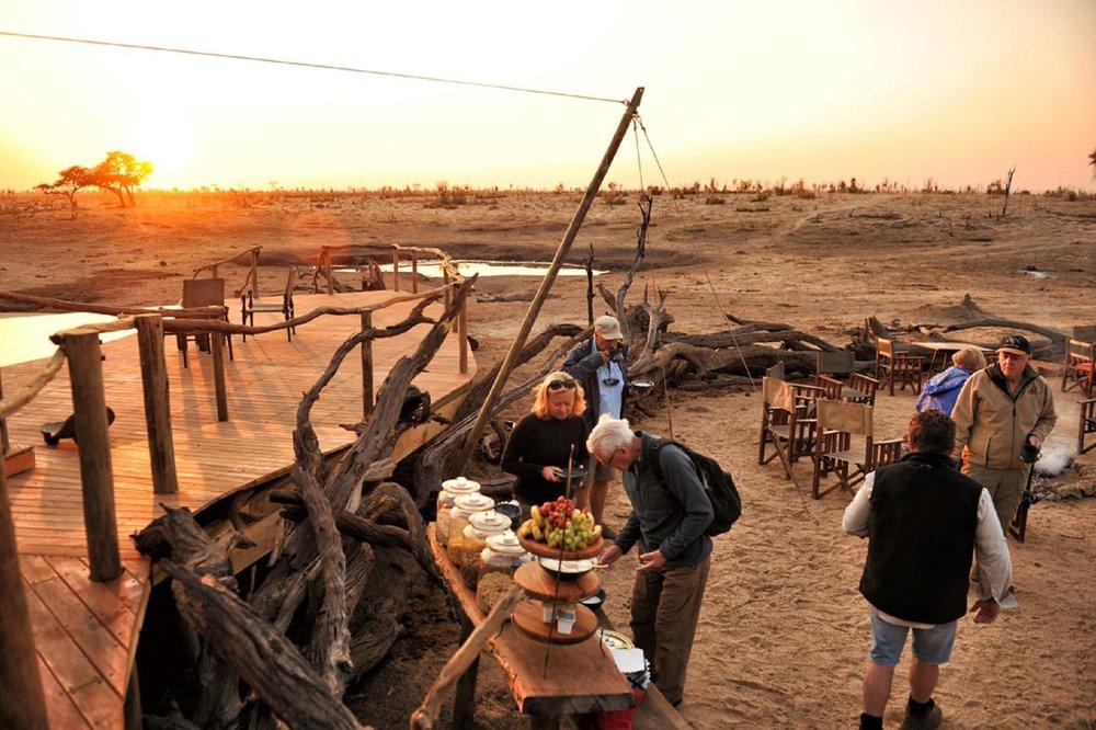 Repas au Somalisa camp