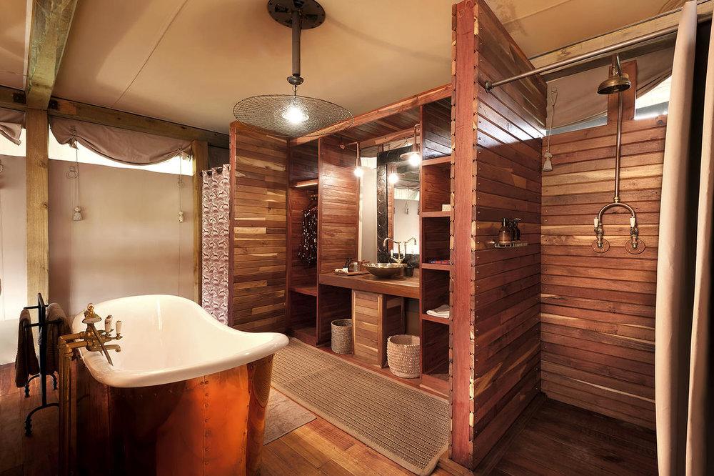 Salle de bain du Somalisa camp
