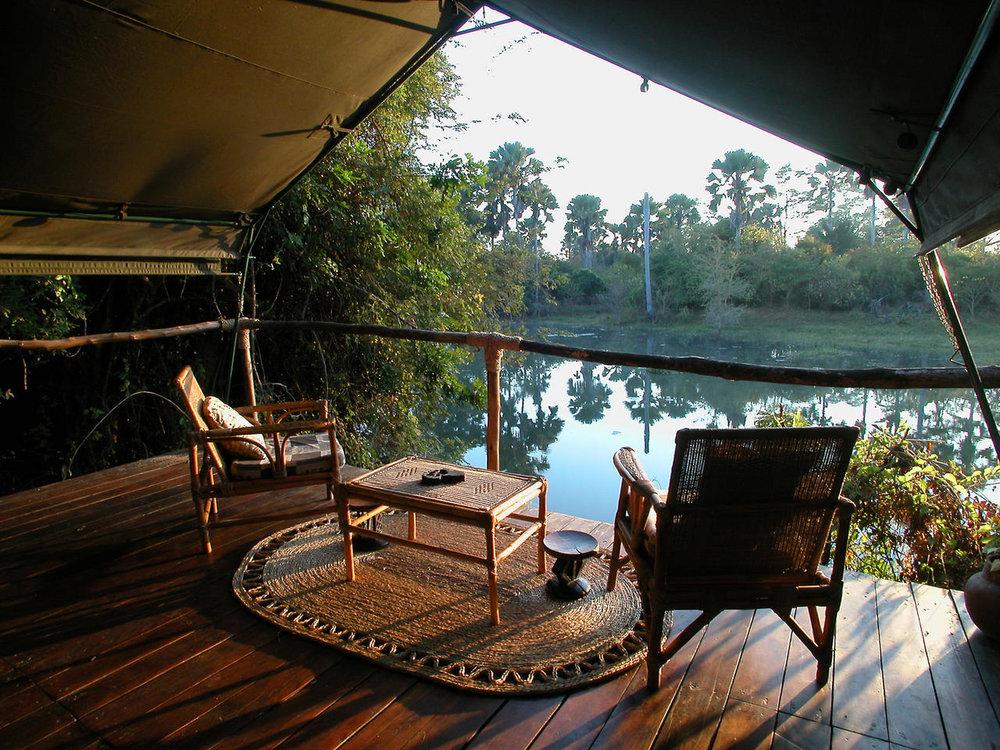 Terrasse privée au Mvuu Wilderness lodge