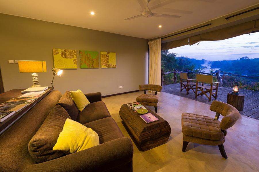 Intérieure chambre au Mkulumadzi lodge