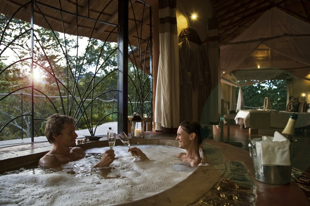 Baignoire du Tongole Wilderness lodge