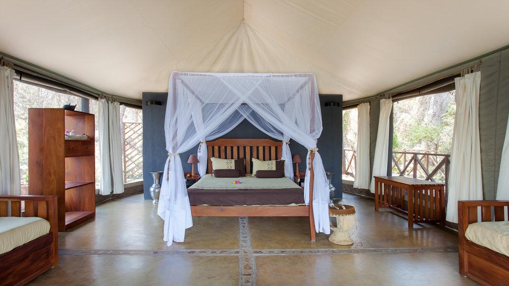 Chambre au Blue Zebra Island lodge