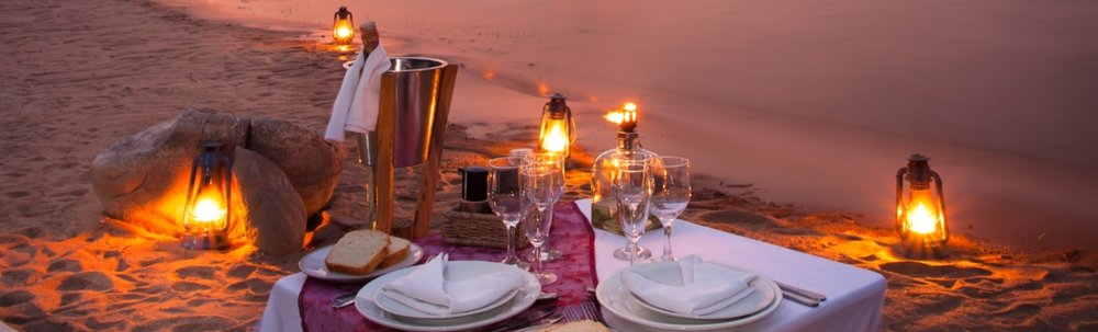 Diner romantique au Blue Zebra Island lodge