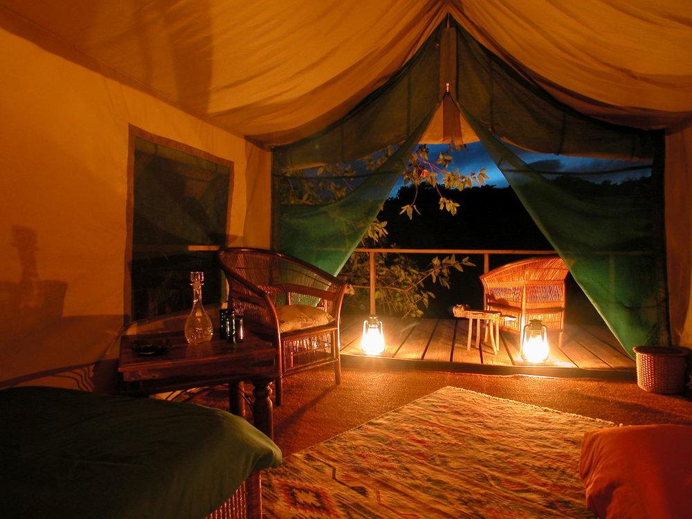 Chambre au Mumbo Island camp
