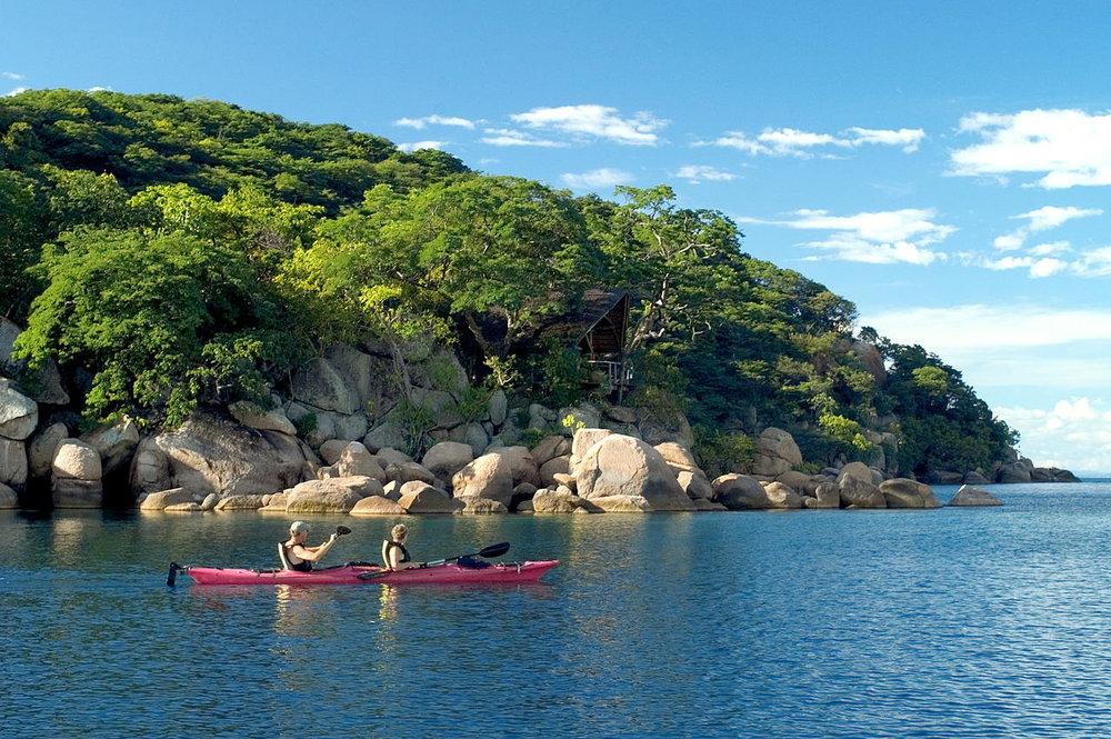 Safari les merveilles du Malawi - Kayac au Mumbo Island camp