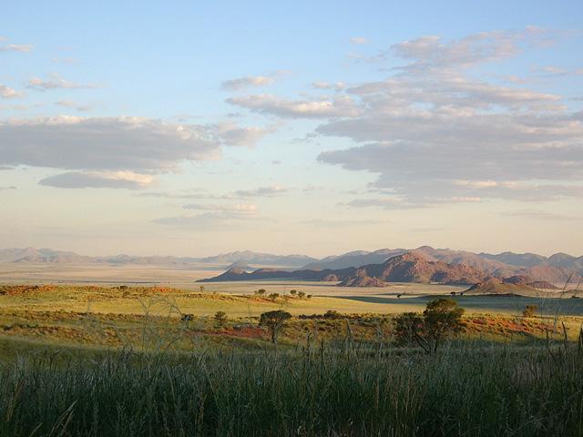 Trek dans le désert namibien - paysage de NamibRand