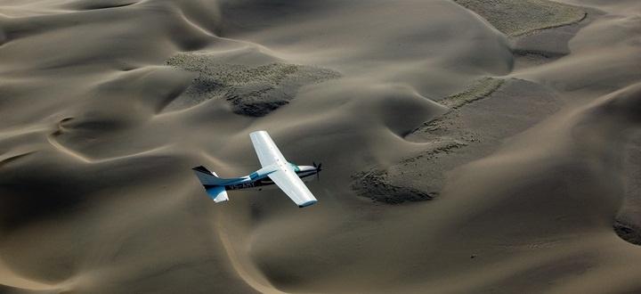 Safari la côte des Squelettes - survol du désert