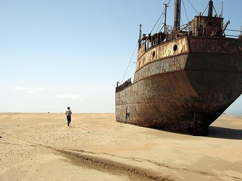 Safari la côte des Squelettes - cargo échoué