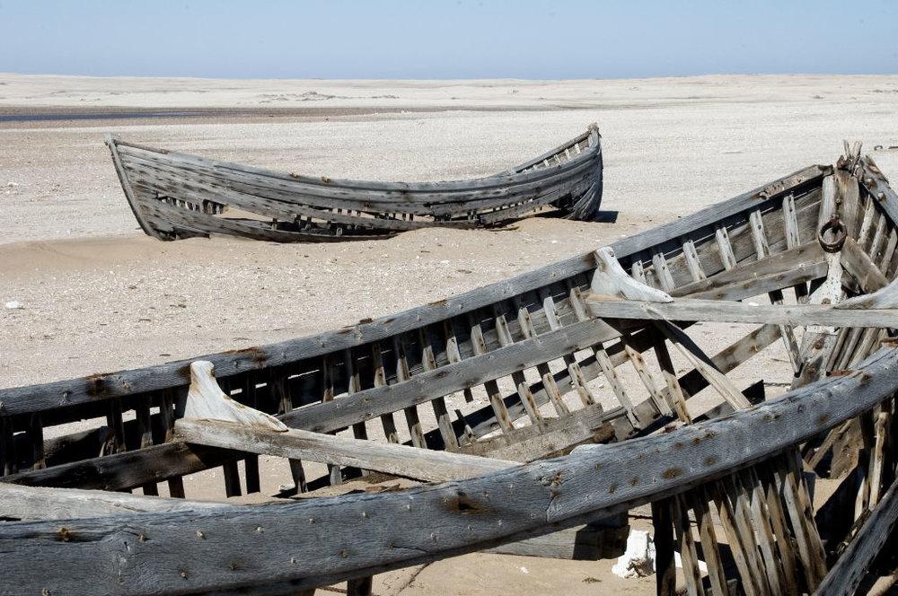 Safari la côte des Squelettes - bateaux échoués