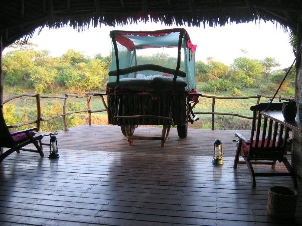 Safari sous les étoiles de loisaba - lit à roulette