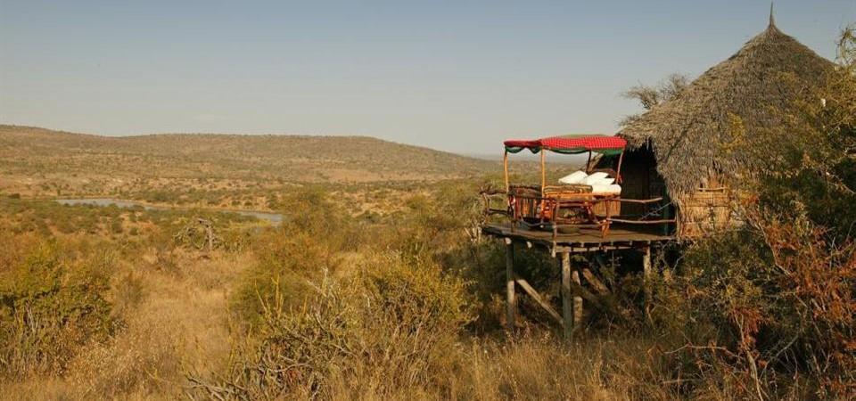 Safari sous les étoiles de loisaba - vue du camp