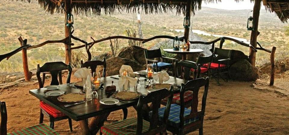 Safari sous les étoiles de loisaba - repas