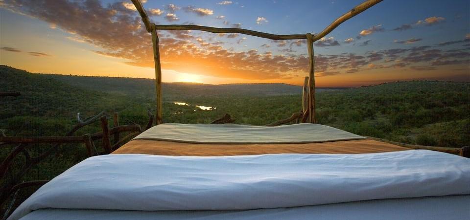 Safari sous les étoiles de loisaba - coucher de soleil