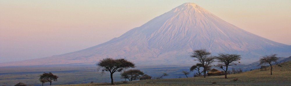 Trek sur l'Oldoinyo Lengai - Lengai au loin