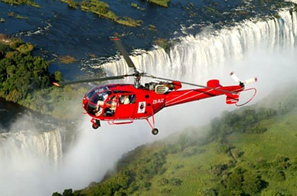 Survolez les chutes Victoria en hélicoptère - vol au dessu des chutes