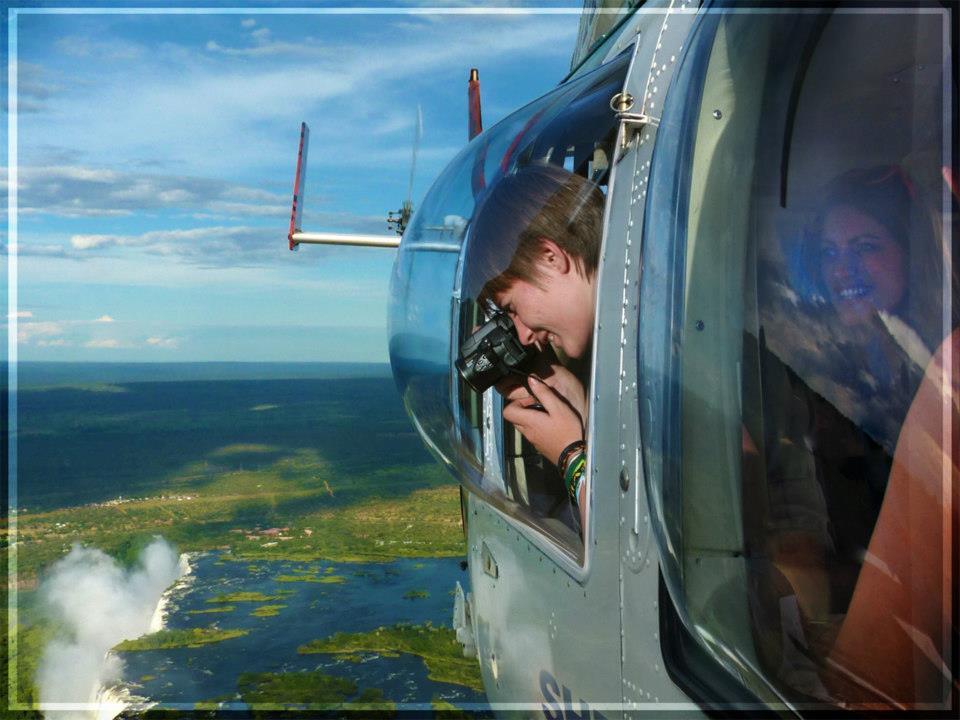 Survolez les chutes Victoria en hélicoptère - vue depui l'hélicoptère