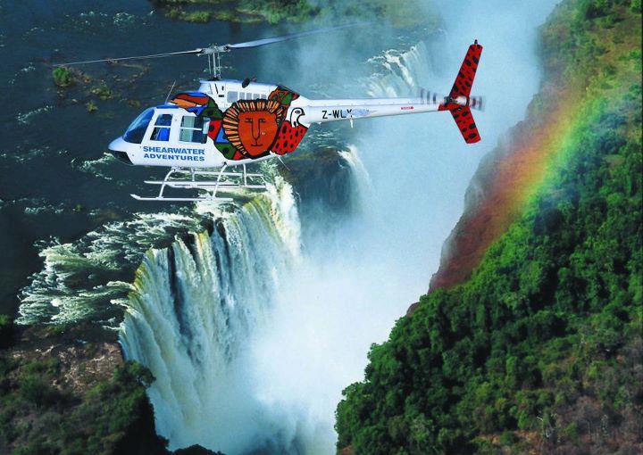 Survolez les chutes Victoria en hélicoptère - survol