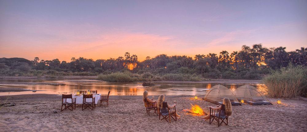 Safari à pied à Ruaha - choucher de soleil