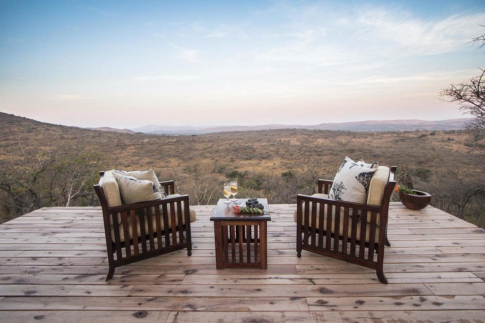 Vue depuis le Rhino Ridge Safari lodge