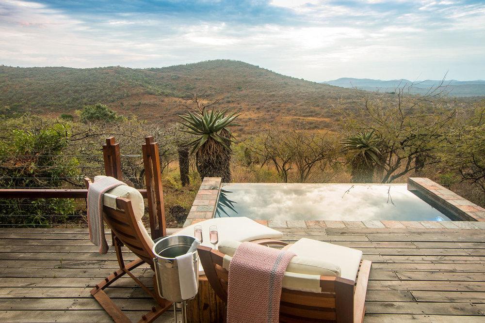 Piscine privée du Rhino Ridge Safari lodge