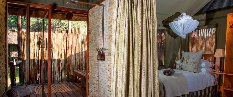 Salle de bain du Pafuri camp