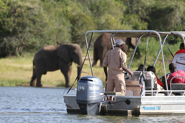 Tour en bateau Akagera Game Lodge