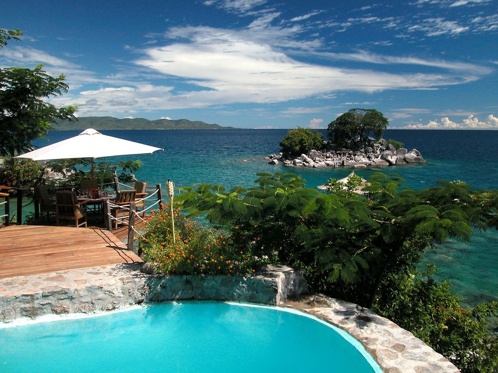 Safari Zambie et Malawi - piscine à Kaya Mawa