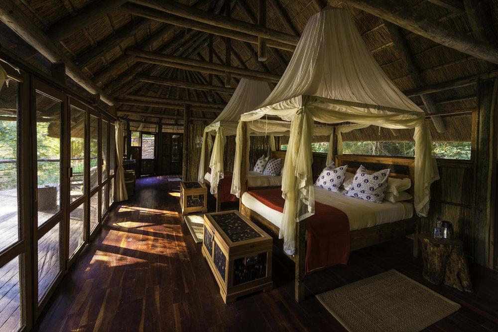 Safari Zambie et Malawi - chambre du Bilimungwe Bushcamp