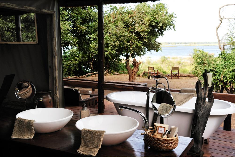 Safari Hors des Sentiers Battus - salle de bain de Chiawa