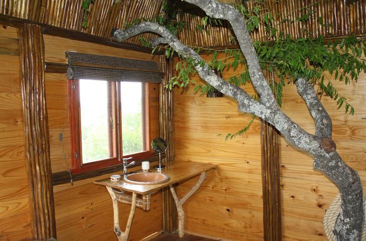 Salle de bain de Pezulu Tree House
