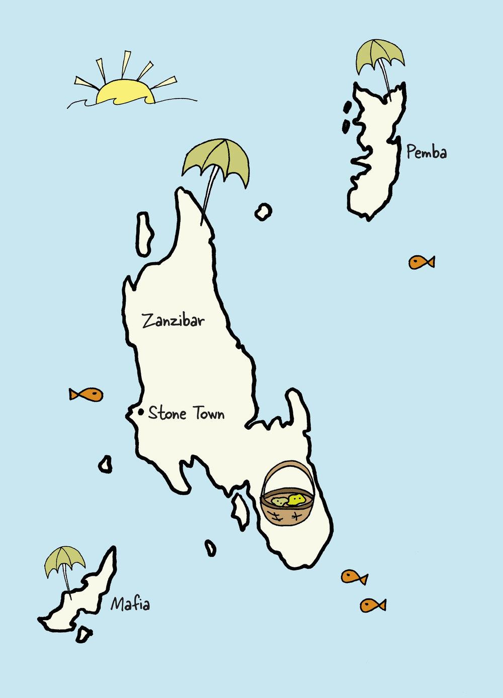 Carte de Zanzibar © www.afriquesurmesure.com Sàrl