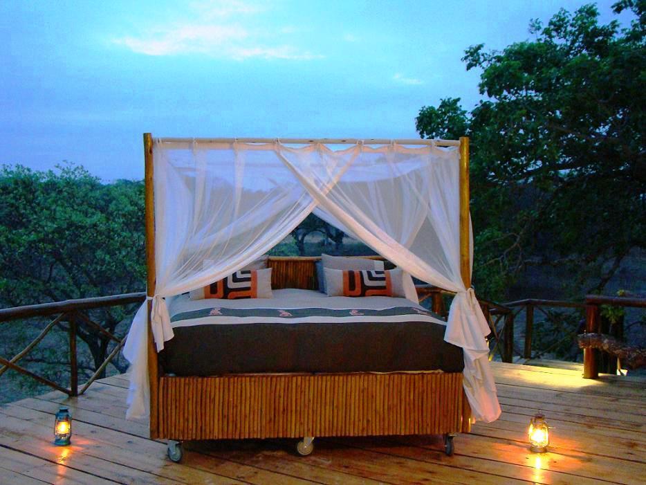 Voyage de noces Kruget et Seychelles - lit sous les étoiles Pezulu