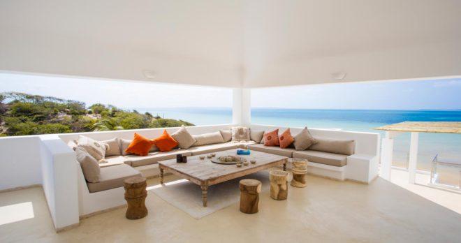 Salon extérieur à Santorini Mozambique