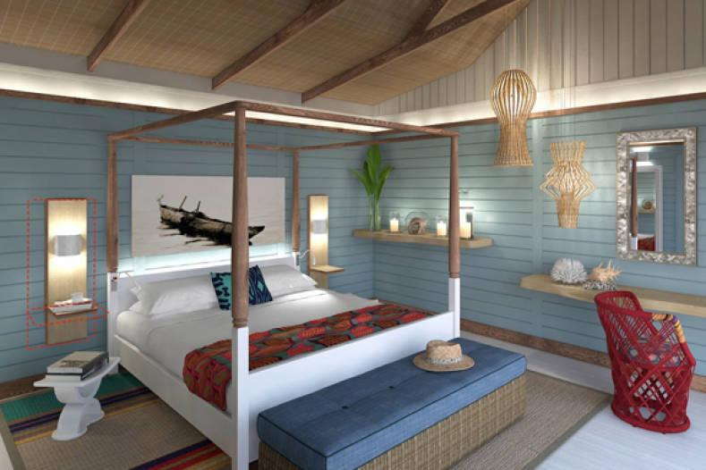 Lit au Anantara Medjumbe Island Resort