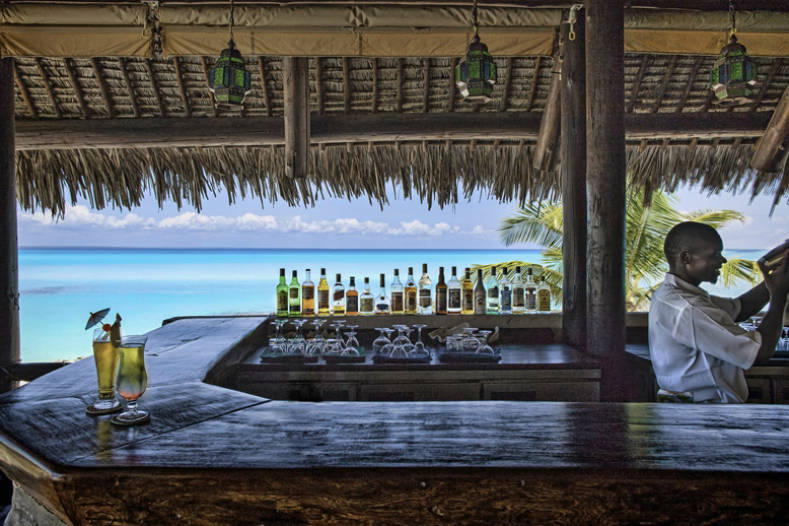 Bar du Anantara Medjumbe Island Resort