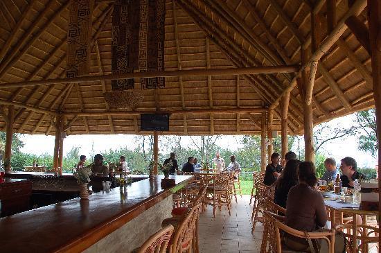 Safari gorilles et chimpanzés au rwanda - bar de l'Hôtel des Milles Collines